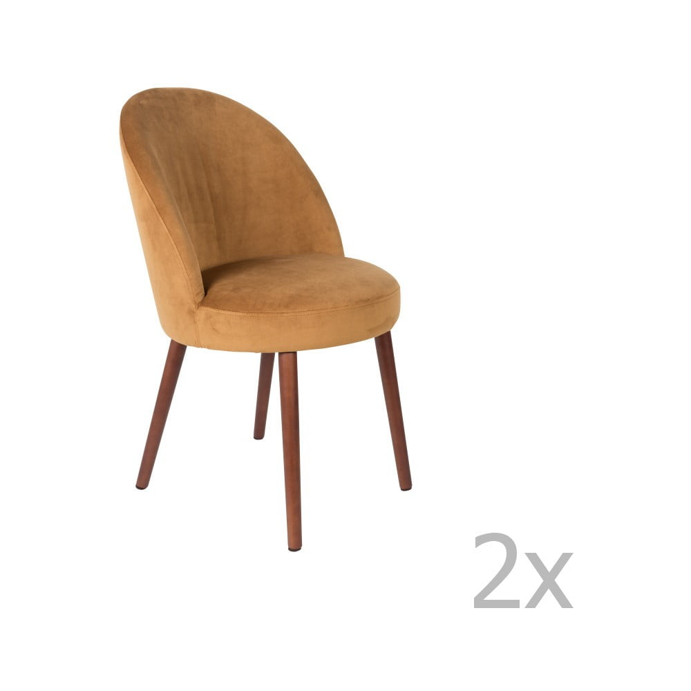 Sada 2 židlí v barvě velbloudí hnědé Dutchbone Barbara