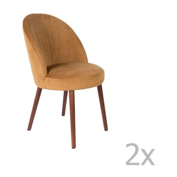 Barbara 2 részes tevebarna szék szett - Dutchbone
