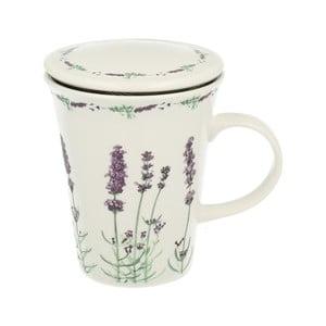 Porcelánový hrnek s filtrem Duo Gift Lavender, 250 ml