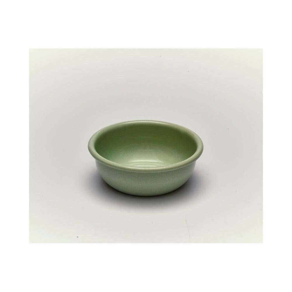 Zelená smaltovaná miska Kapka Back To Basics, Ø11,6cm