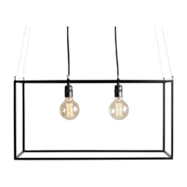 Černé závěsné světlo pro 2 žárovky Custom Form Metric