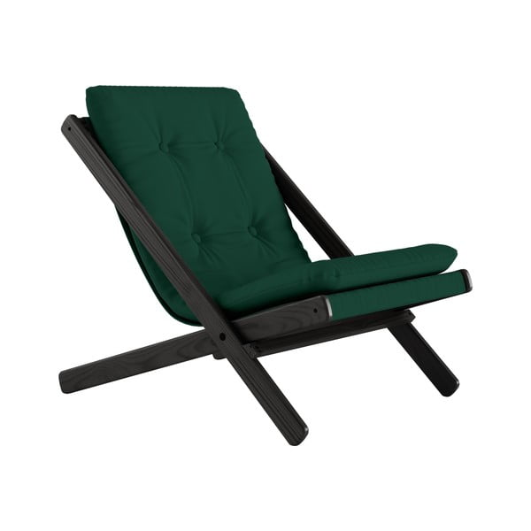 Fotoliu pliant Karup Design Boogie Black/Forest Green