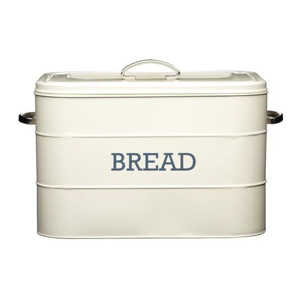 Krémovobiela plechová dóza na chlieb Kitchen Craft Bread