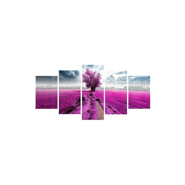 5dílný obraz Uprostřed fialové
