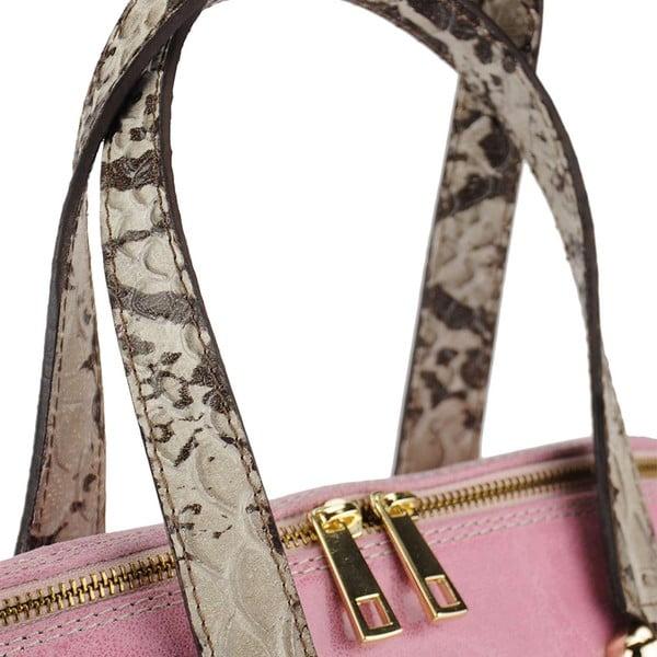 Kožená kabelka Jessy Pink