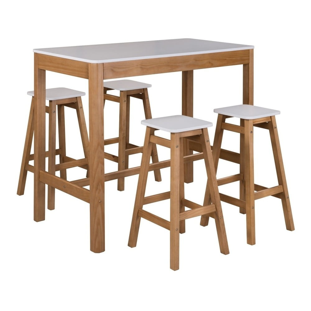 Barov stolek z borovicov ho d eva sob irelia bonami for Table et chaises de cuisine en rotin