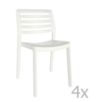 Set 4 scaune de grădină Resol Wind, alb