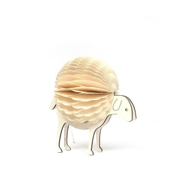 Beżowa papierowa ozdoba świąteczna w kształcie owcy Only Natural, wys. 7,5 cm
