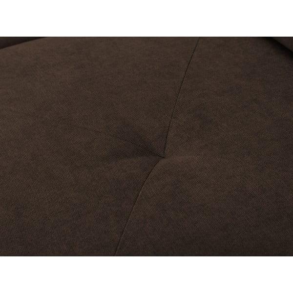 Hnědá rohová rozkládací pohovka Windsor & Co Sofas, levý roh Beta