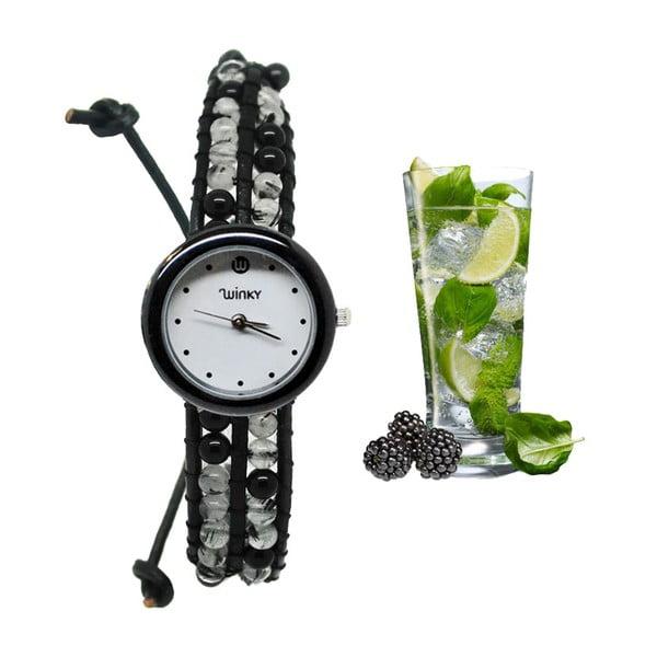 Korálkové hodinky Classic, Black Mojito