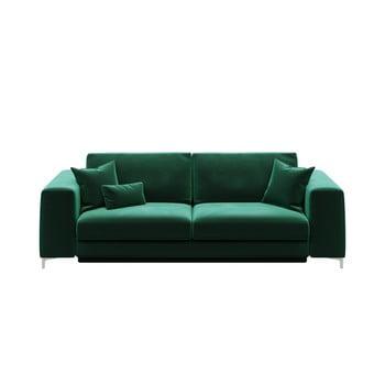 Canapea extensibilă cu 3 locuri devichy Rothe, verde închis de la devichy