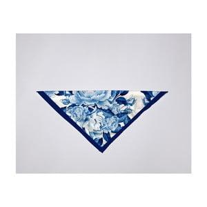 Modrý šátek Velvet Atelier, 55 x 55 cm