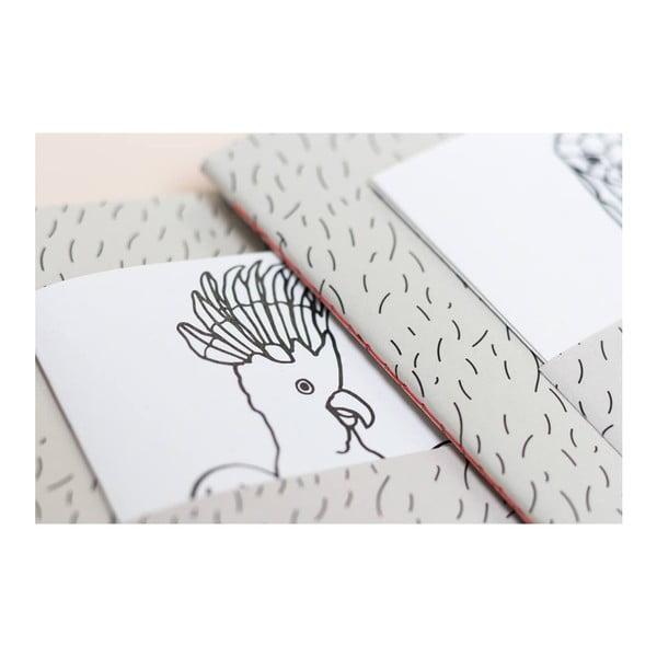 Zápisník z recyklovaného papíru s přihrádkou a omalovánkami od studia Voala pro KlokArt, 60stran