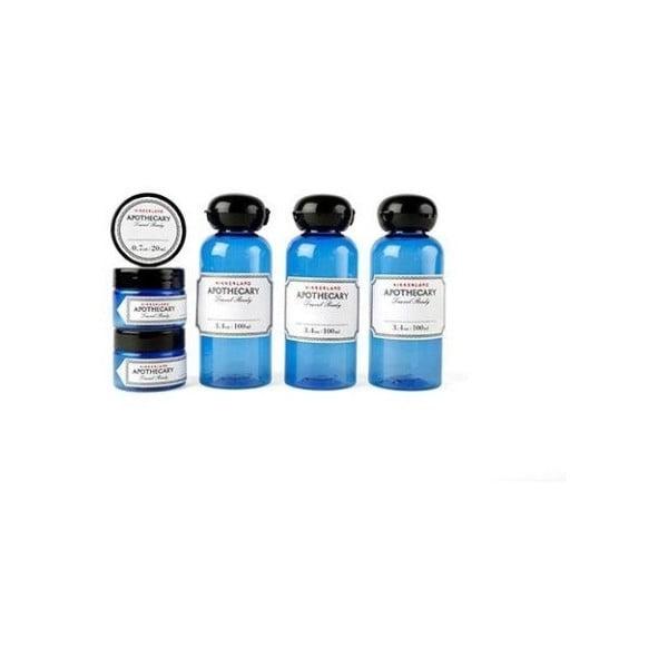 Sada 6 cestovních lahviček na kosmetiku Kikkerland Traveler