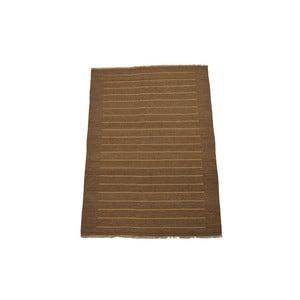 Ručně tkaný koberec Mustard Stripes, 140x200 cm