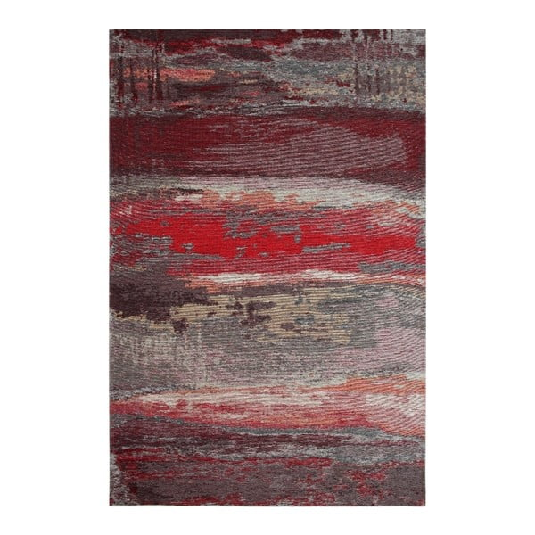 Koberec Eco Rugs Red Abstract, 120 x 180 cm