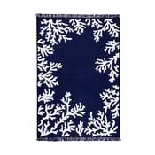 Modrobílý oboustranný koberec Homedebleu Coral, 80 x 150 cm