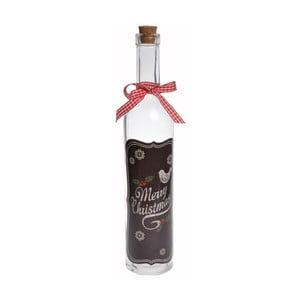 Skleněná lahev Merry Christmas Slim