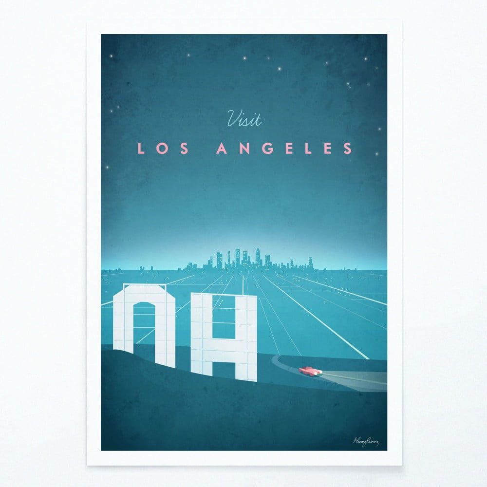 Plakát Travelposter Los Angeles A2