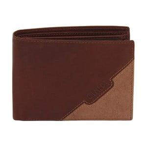 Hnědá kožená peněženka Friedrich Lederwaren Cognac
