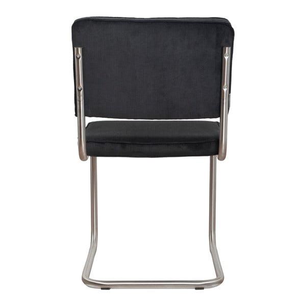 Sada 2 černých židlí Zuiver Ridge Brushed Rib