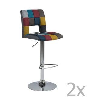 Set 2 scaune pentru bar Actona Wilma Barstool Patchwork de la Actona
