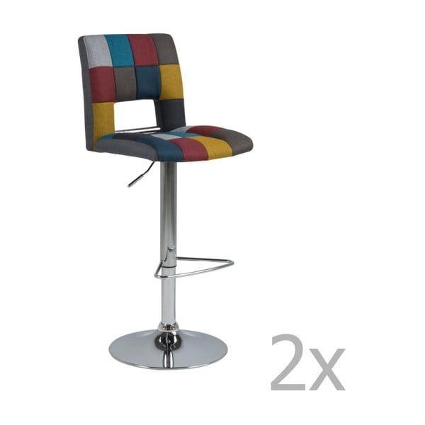 Set 2 scaune pentru bar Actona Wilma Barstool Patchwork