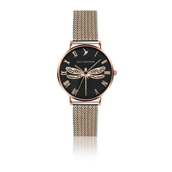Dámské hodinky s páskem z nerezové oceli v růžovozlaté barvě Emily Westwood Miraga
