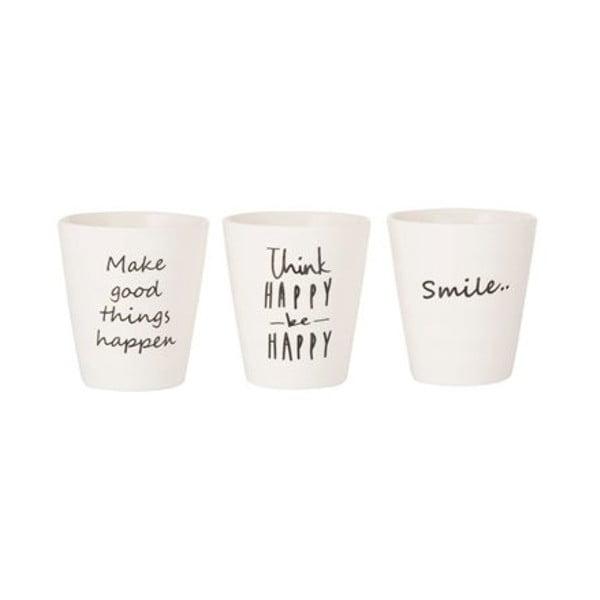 Bílý porcelánový hrnek Bahne & CO Smile
