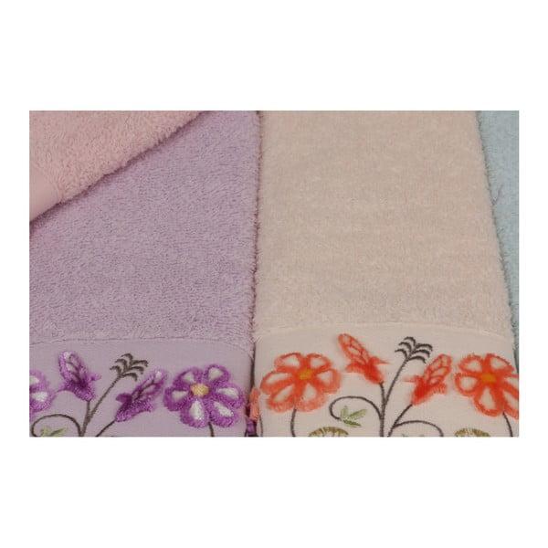 Sada 6 barevných ručníků z čisté bavlny Quanti, 30 x 50 cm