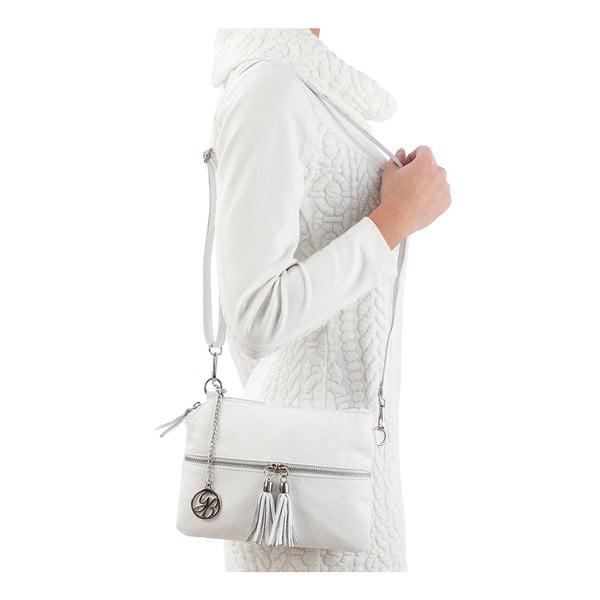 Kožená kabelka Alberto, bílá