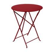 Sytě červený skládací kovový stůl Fermob Bistro