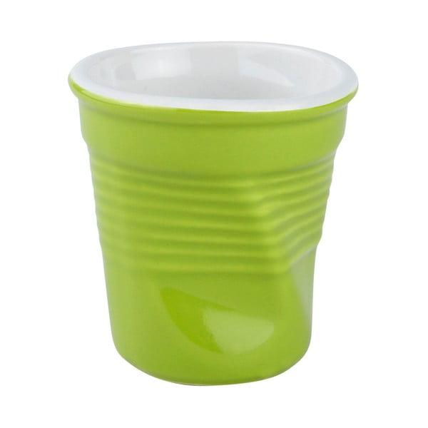 Sada zelených porcelánových hrnků 0,1 l, 4 ks