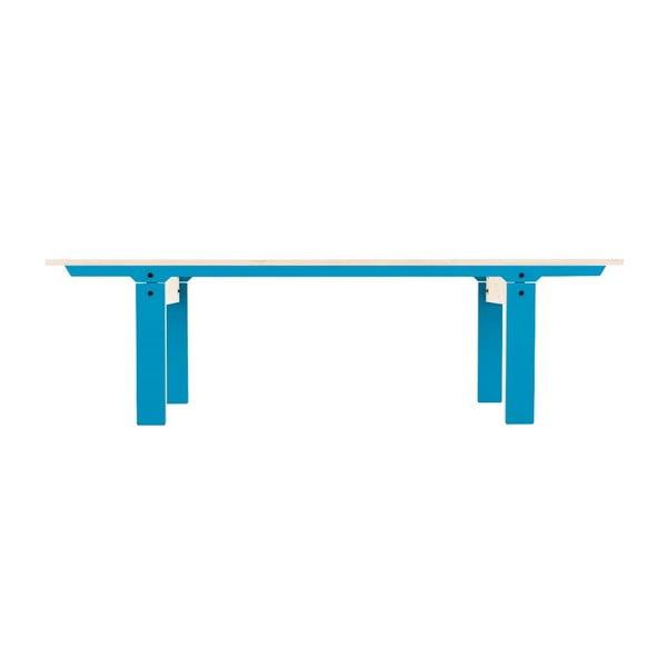 Modrá lavice na sezení rform Slim 04, délka 165 cm