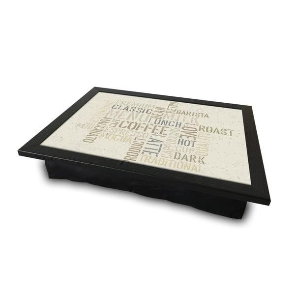 Servírovací tác spolštářem na spodní straně Coffee, 36 x 46 cm