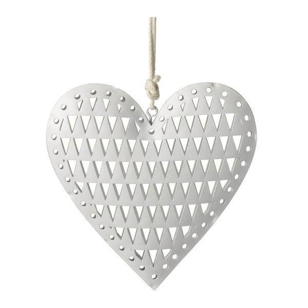 Závěsná dekorace Parlane Heart Triangle, 12cm