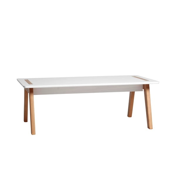 Biały szeroki stolik Marckeric Dana