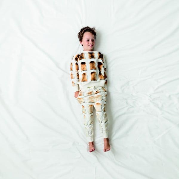 Bílá chlapecká mikina Snurk Toast, vel. 116