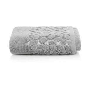 Šedý bavlněný ručník Maison Carezza Ciampino, 50 x 90 cm