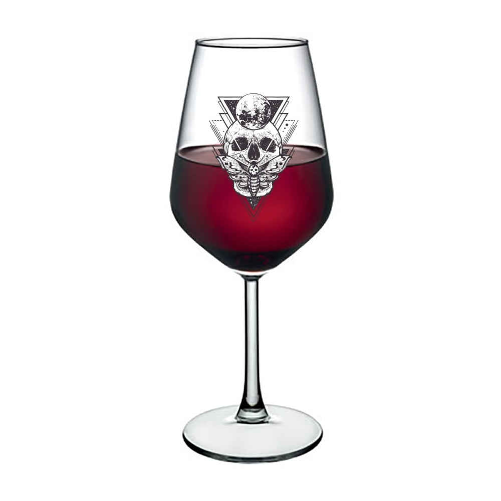 Sklenice na víno Vivas Skull, 345 ml