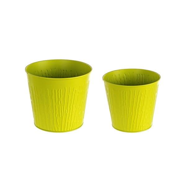 Sada 2 květináčů Corteccia, zelená