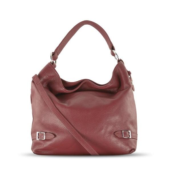 Kožená kabelka Audrey, červená