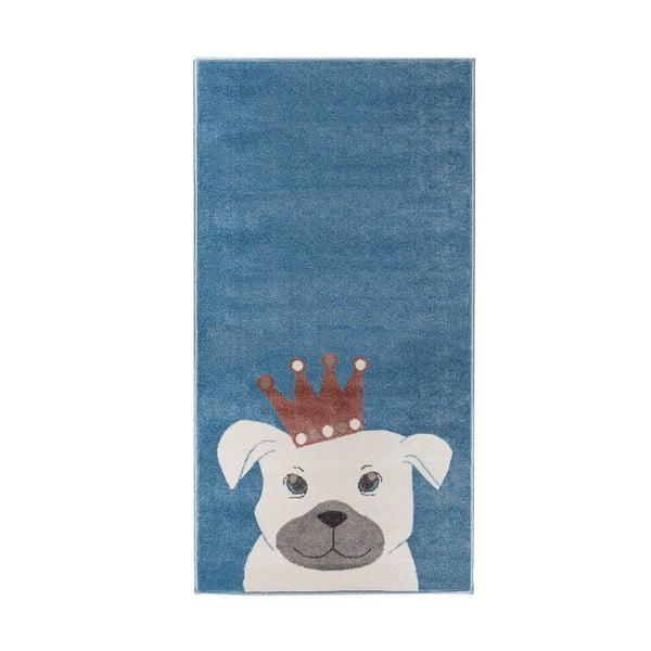 Kutyamintás sötétkék szőnyeg, 80 x 150 cm - KICOTI
