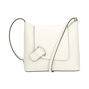 Bílá kožená kabelka Chicca Borse Carmello