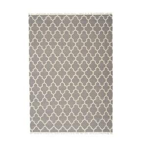 Šedý ručně tkaný vlněný koberec Linie Design Arifa, 140x200cm