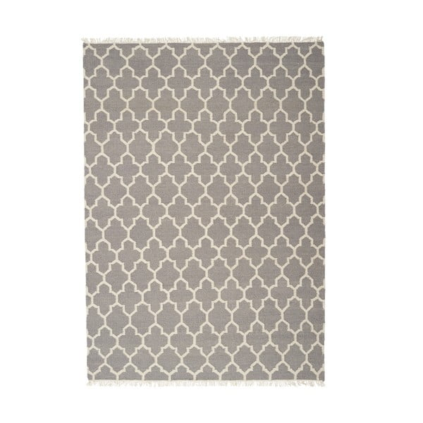 Šedý ručně tkaný vlněný koberec Linie Design Arifa, 160x230cm