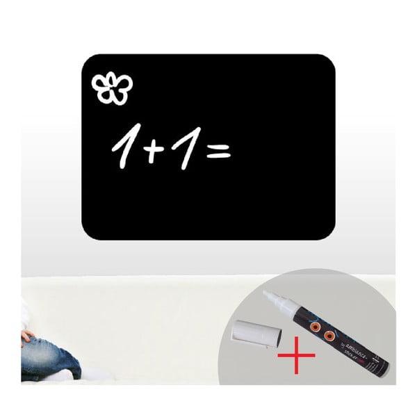 Zestaw tablicy samoprzylepnej i białego flamastra Ambiance Classical Chalkboard, 55x75 cm