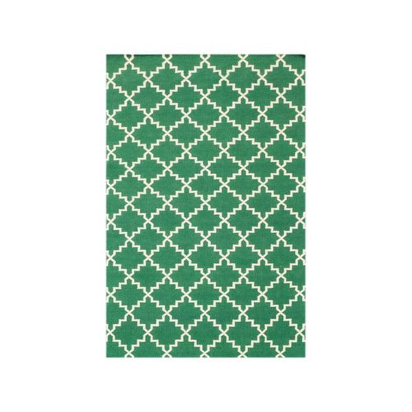 Vlněný koberec Eugenie Green, 200x140 cm