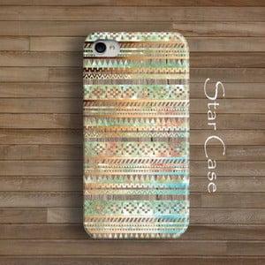 Obal na iPhone 4/4S Wood Tribal Beige