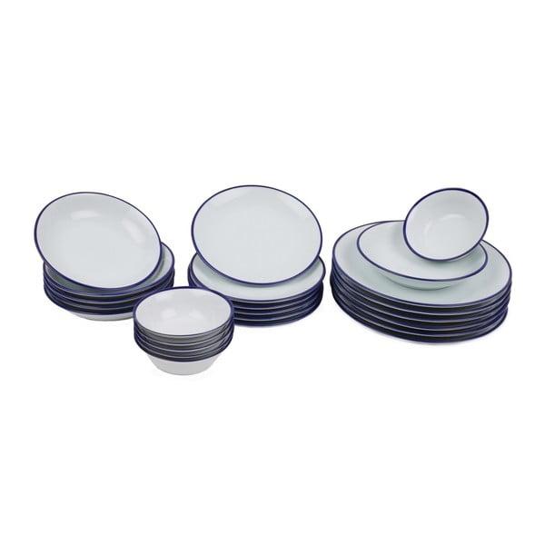 24-częściowy zestaw talerzy porcelanowych Kutahya Margaka